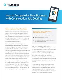 How to Compete for New Business with Construction Job Costing