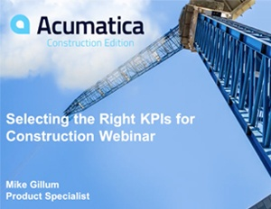 Selecting the Right KPIs for Construction
