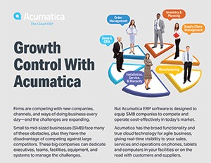 Growth Control With Acumatica Infographic