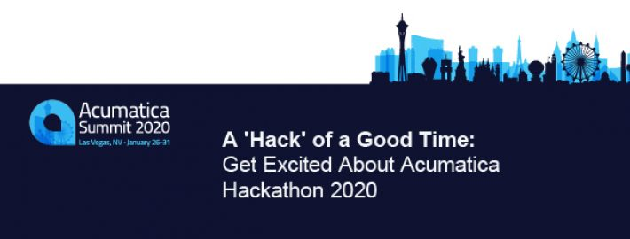 A 'Hack' of a Good Time: Get Excited About Acumatica Hackathon 2020