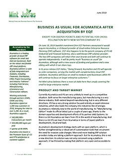 Business as Usual For Acumatica After Acquisition by EQT