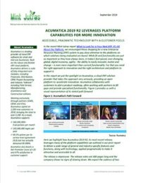 Acumatica 2019 R2 Leverages Platform Capabilities for More Innovation