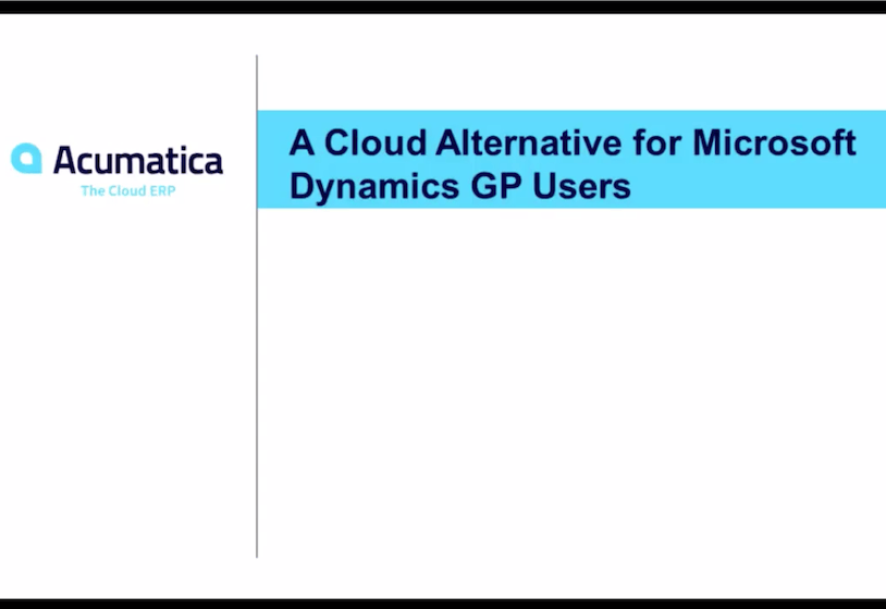 A Cloud Alternative for Microsoft Dynamics GP Users