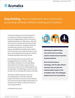 Keep Building: How to Implement New Construction Accounting Software Without Slowing Your Business