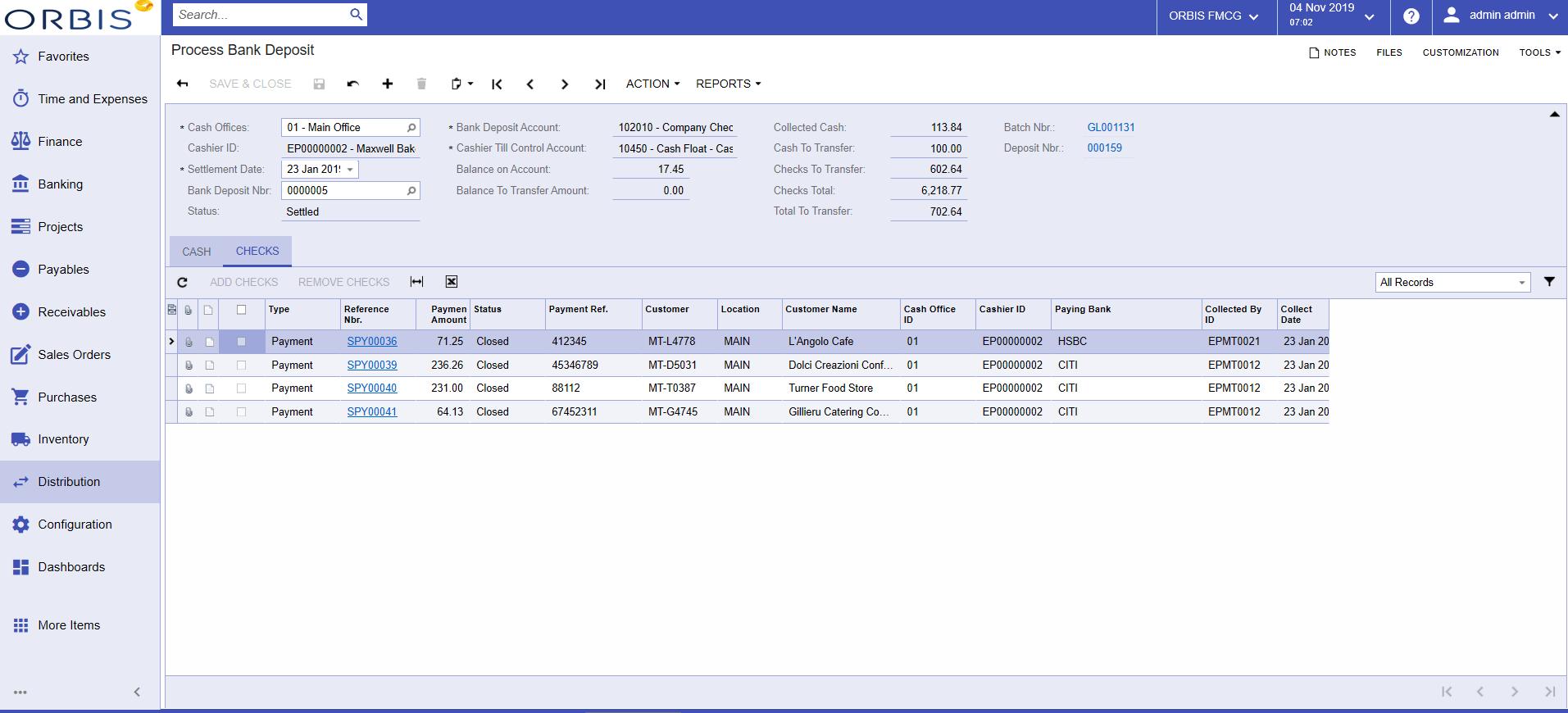 OrbisDSDImage6 - Process Bank Deposit