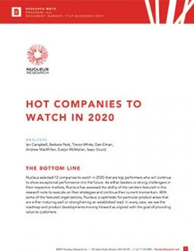 Hot Companies to Watch in 2020