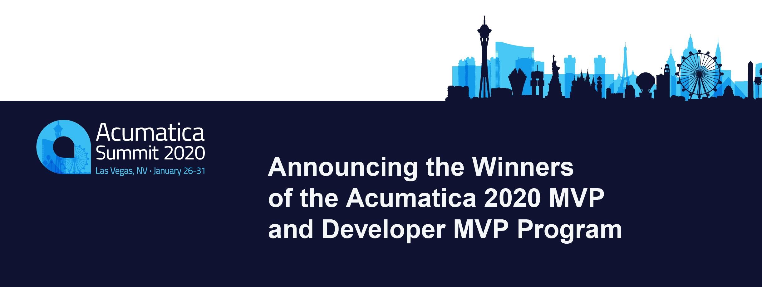 Announcing the Winners of the Acumatica 2020 MVP and Developer MVP Program