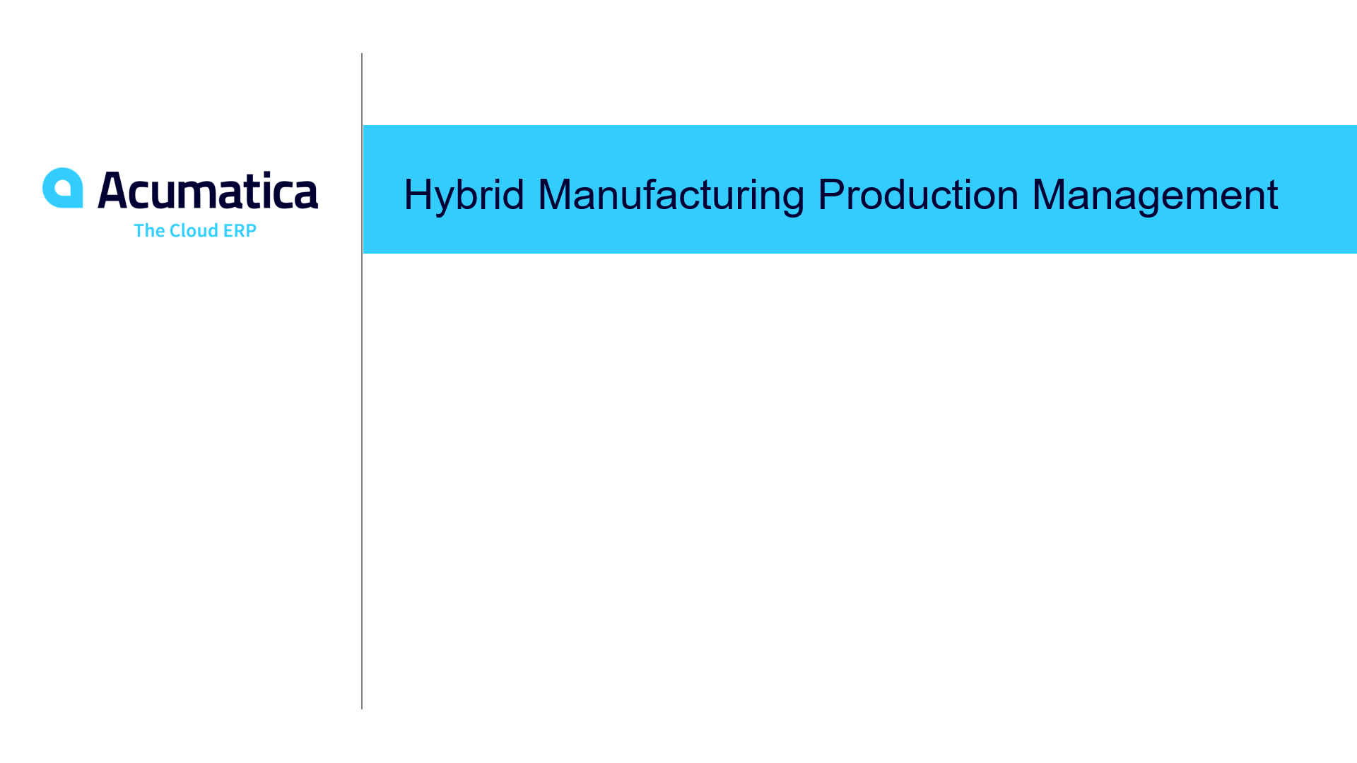 Hybrid Manufacturing Production Management