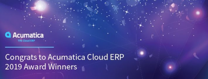 Congrats to Acumatica Cloud ERP 2019 Award Winners