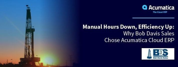 Manual Hours Down, Efficiency Up: Why Bob Davis Sales Chose Acumatica Cloud ERP