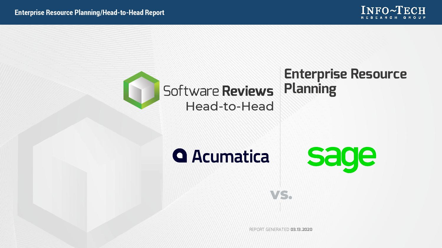 ERP Software Reviews: Acumatica vs. Sage, page 0