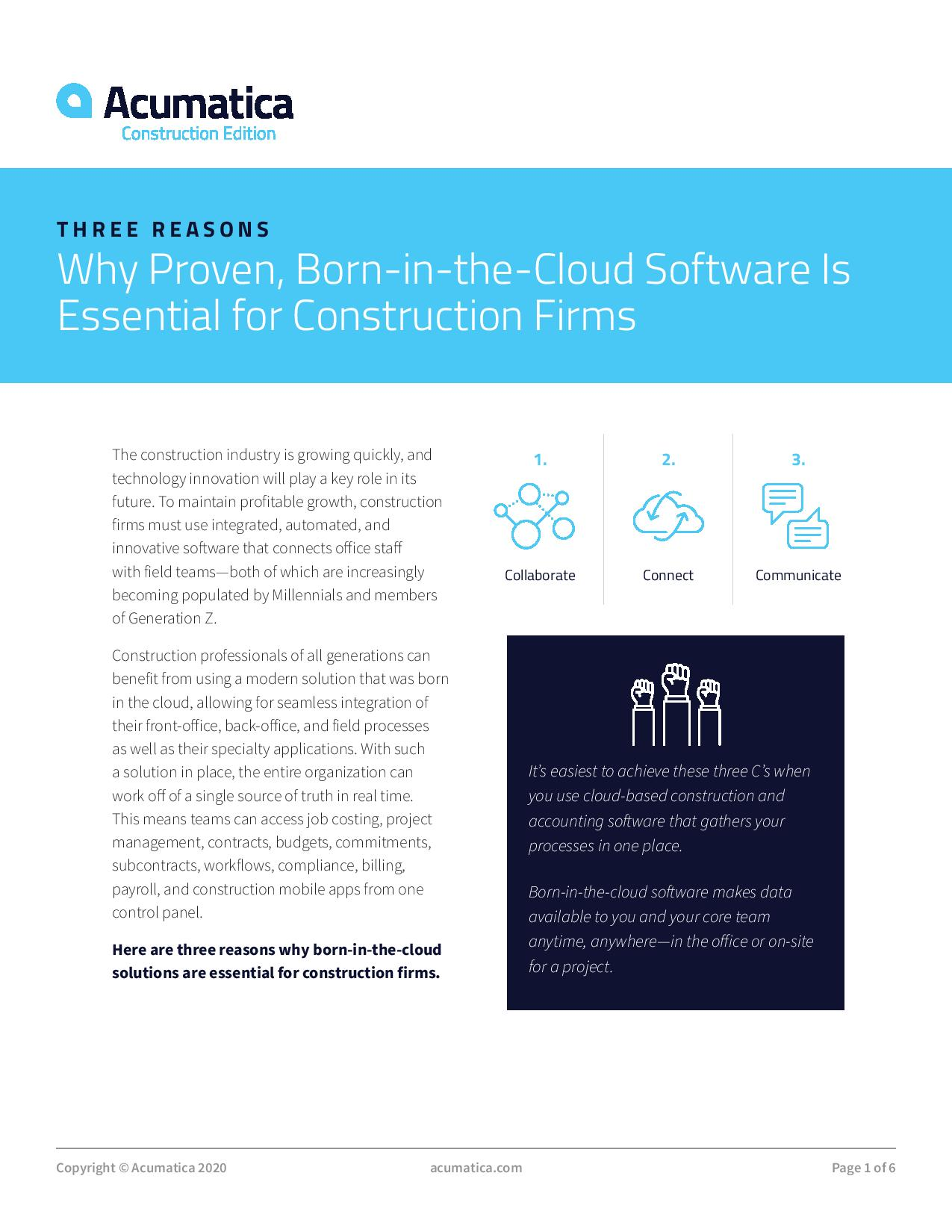 Construction Accounting Software: Why Move to the Cloud?, page 0