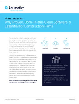 Three Reasons Cloud is Essential for Construction