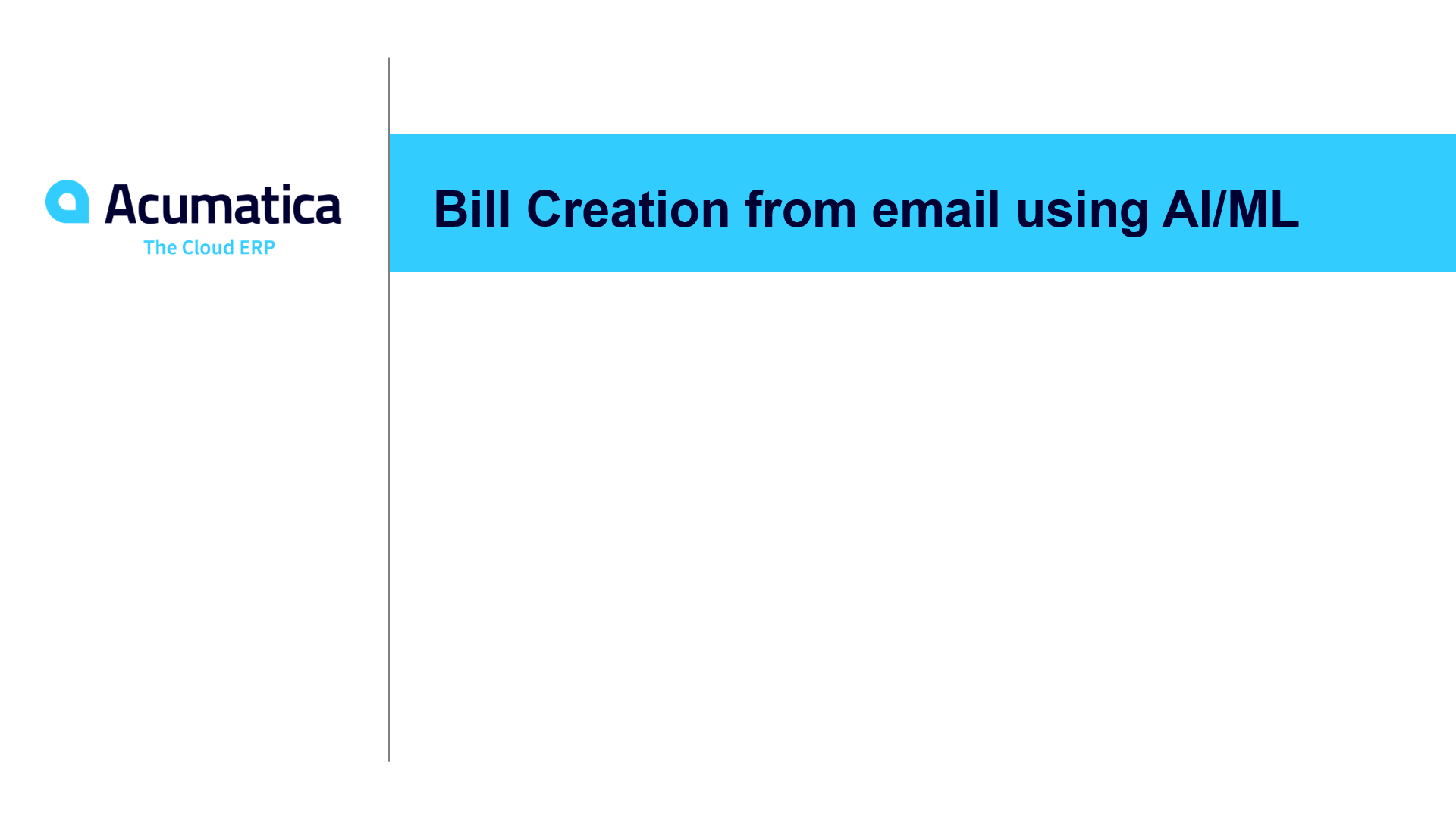 Bill Creation from email using AI/ML (January 2020)