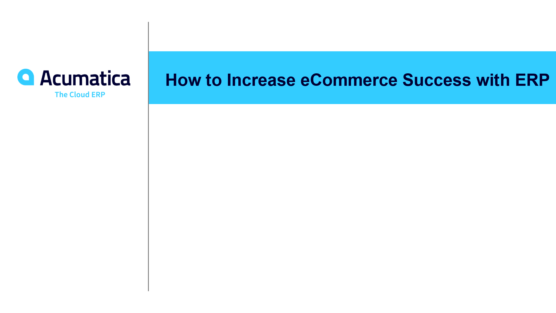 How to Increase eCommerce Success with ERP (September 2019)