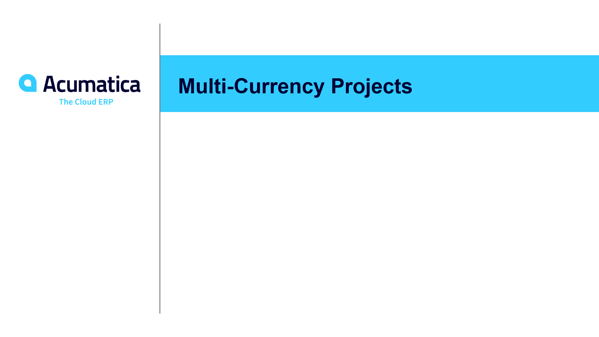 Multi-currency projects (March 2019)
