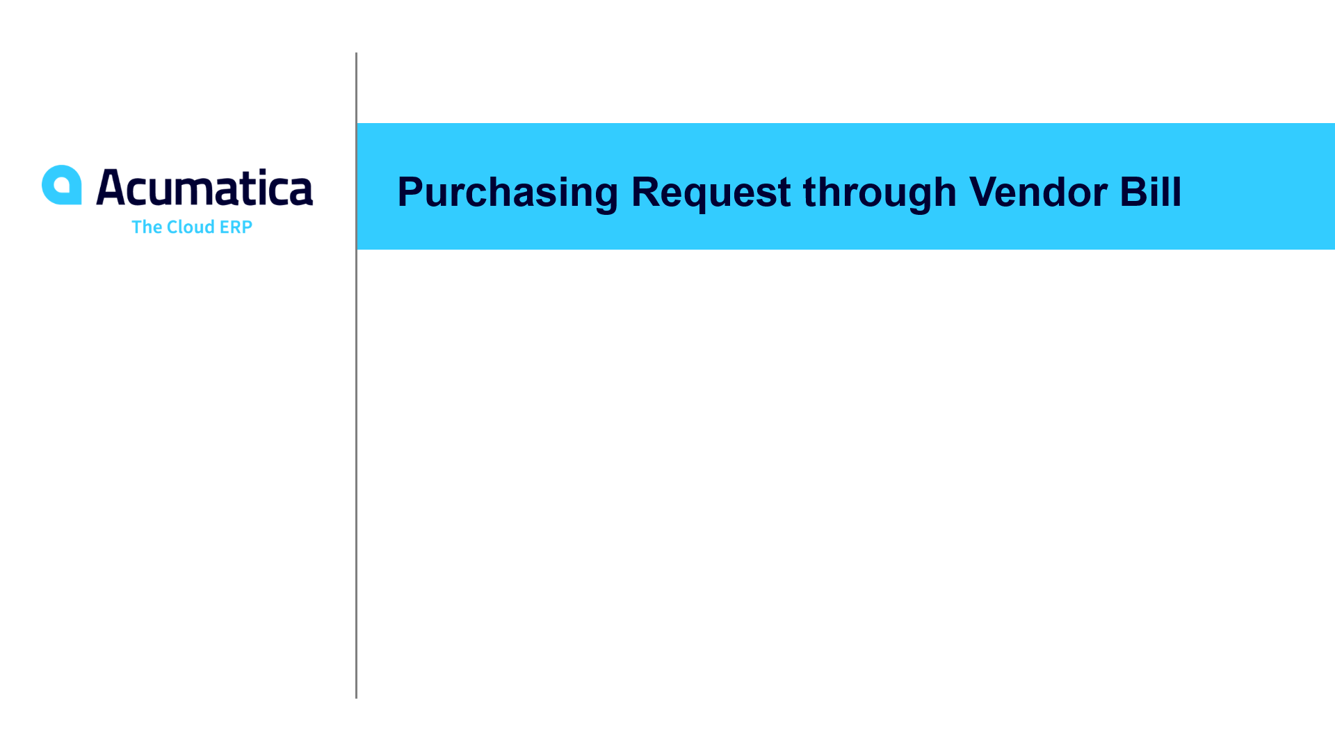 Purchasing Request through Vendor Bill (May 2019)
