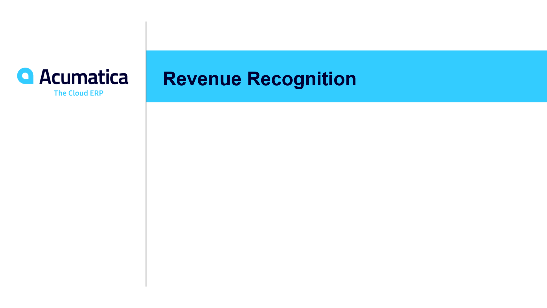 Revenue Recognition (March 2020)