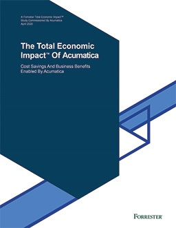 The Total Economic Impact™ Of Acumatica