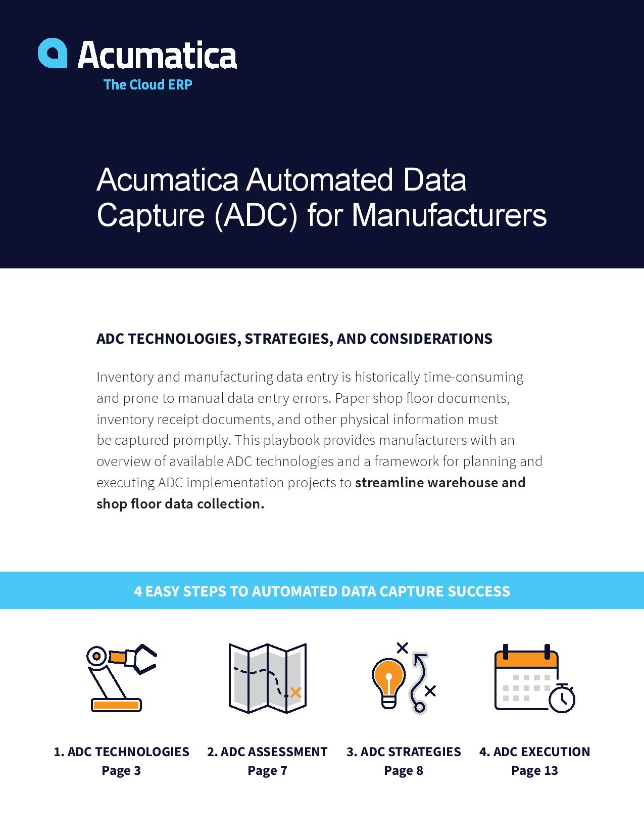 Automated Data Capture for Manufacturers, page 0