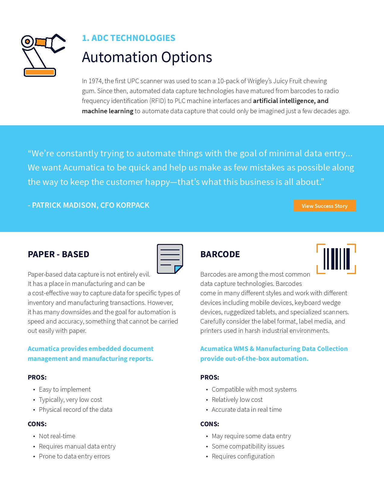Automated Data Capture for Manufacturers, page 2