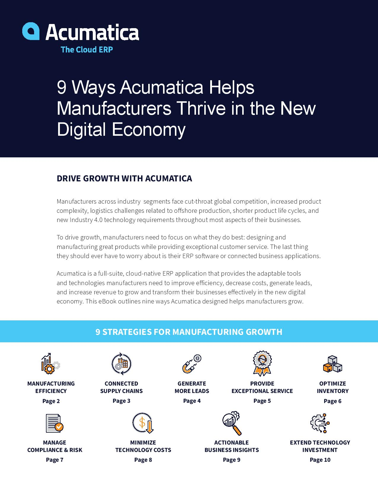 Nine Ways to Drive Manufacturing Growth in a Digital Economy, page 0