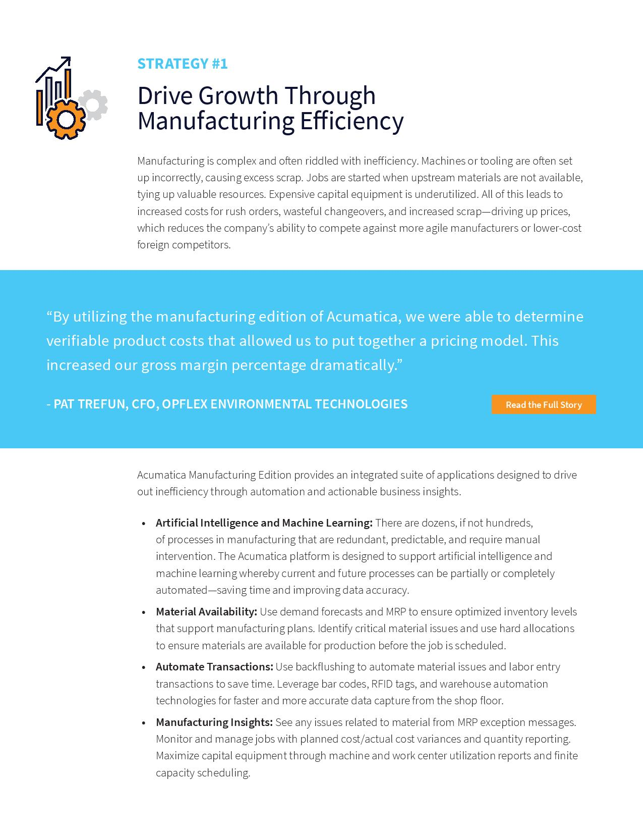 Nine Ways to Drive Manufacturing Growth in a Digital Economy, page 1