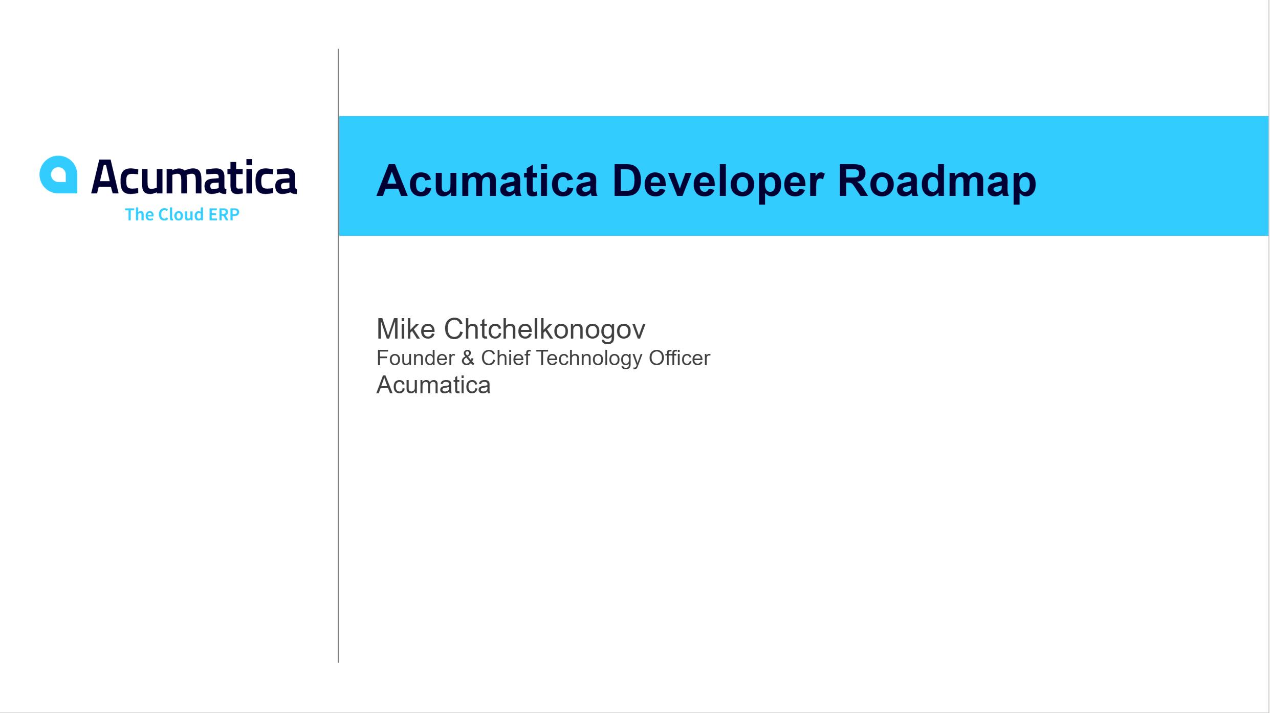 DevCon 2020 - Developer Roadmap