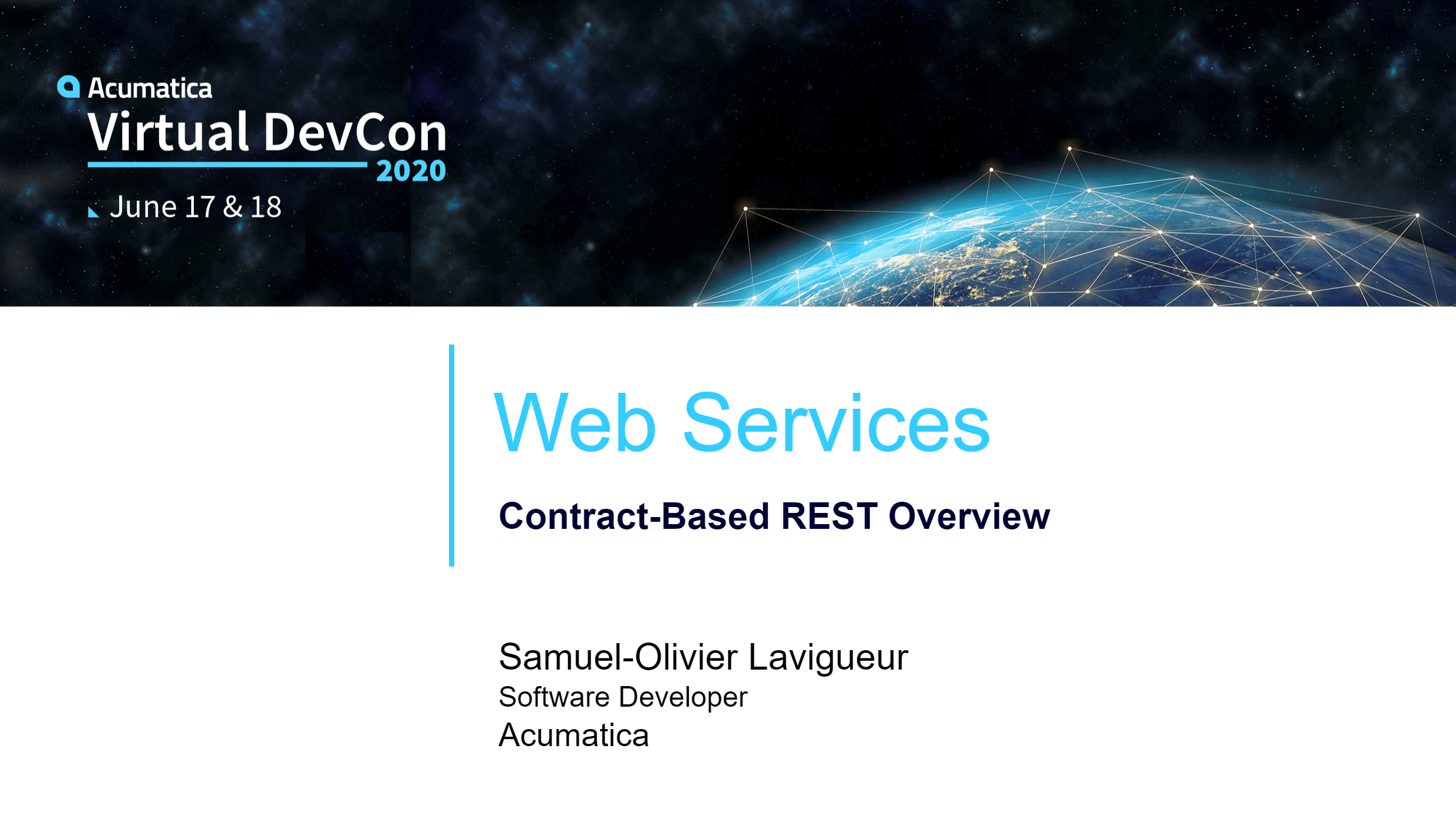 DevCon 2020 - Web Services - Contract-Based REST Overview