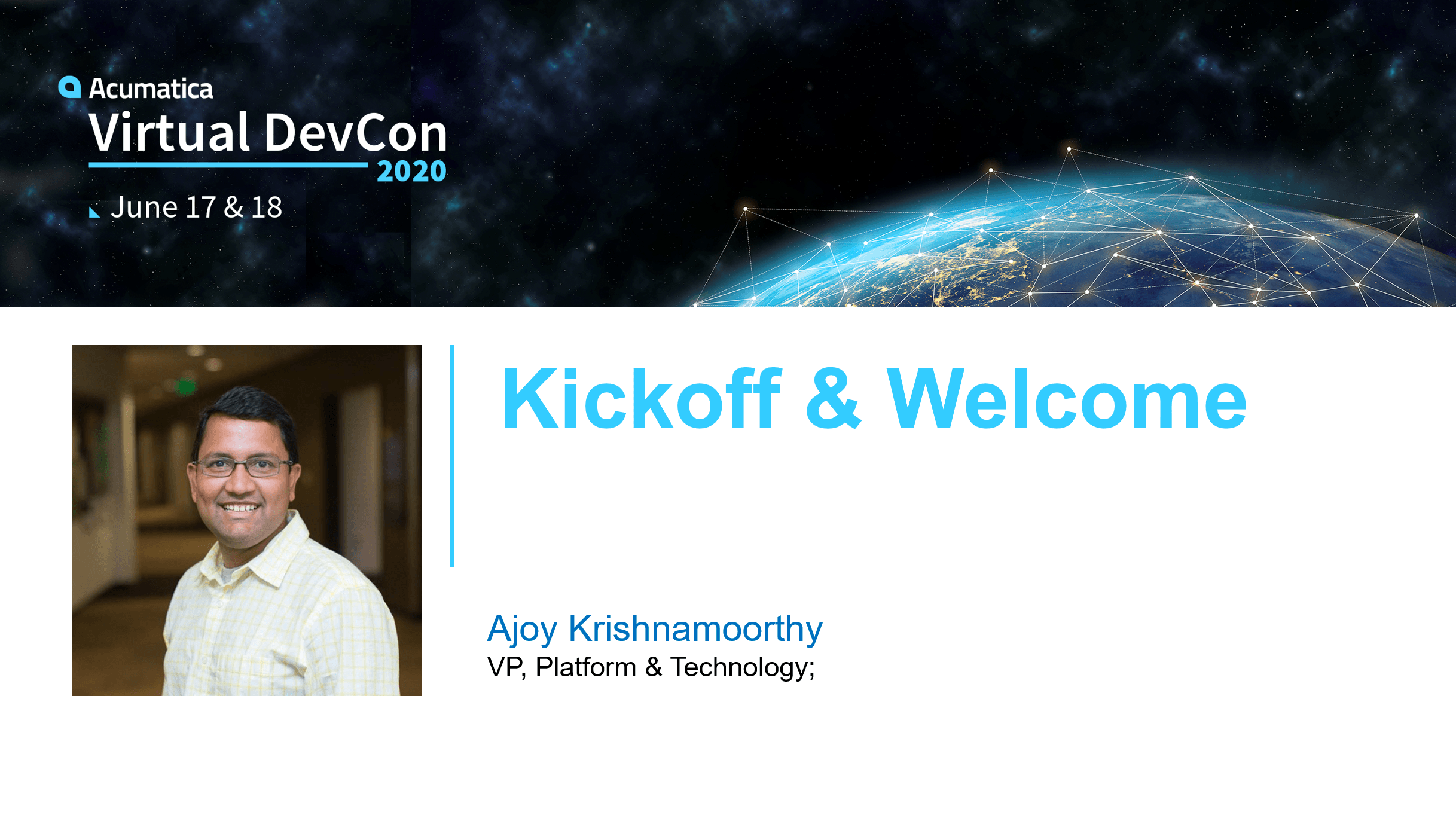 2020 DevCon: Welcome & Kickoff