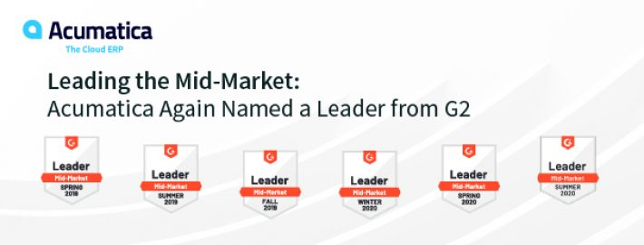 Leading the Mid-Market: Acumatica Again Named a Leader from G2