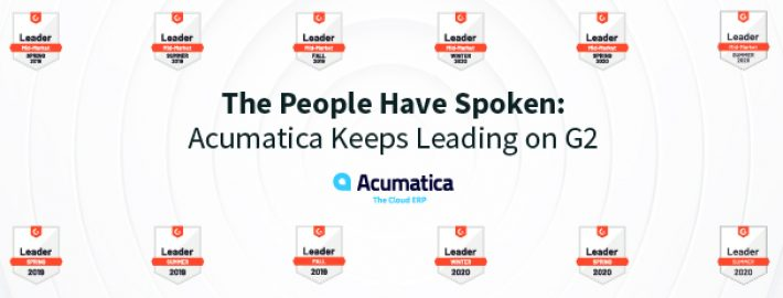 The People Have Spoken: Acumatica Keeps Leading on G2