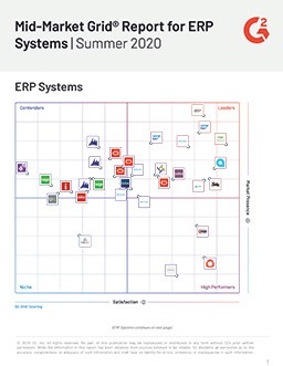 Mid-Market Grid® Report for ERP Systems | Summer 2020
