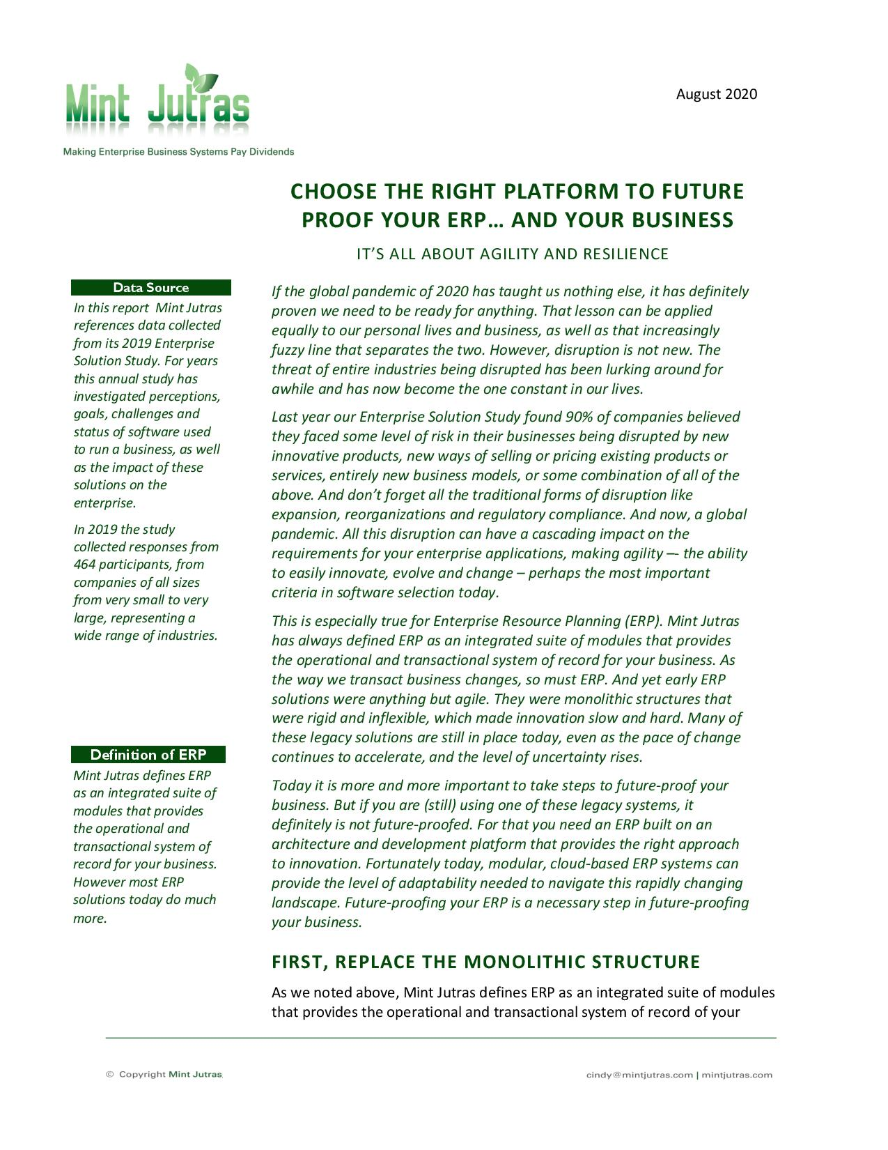 Selecting an ERP System? Here's How to Get it Right, page 0