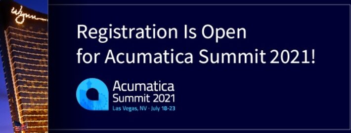 Registration Is Open for Acumatica Summit 2021!