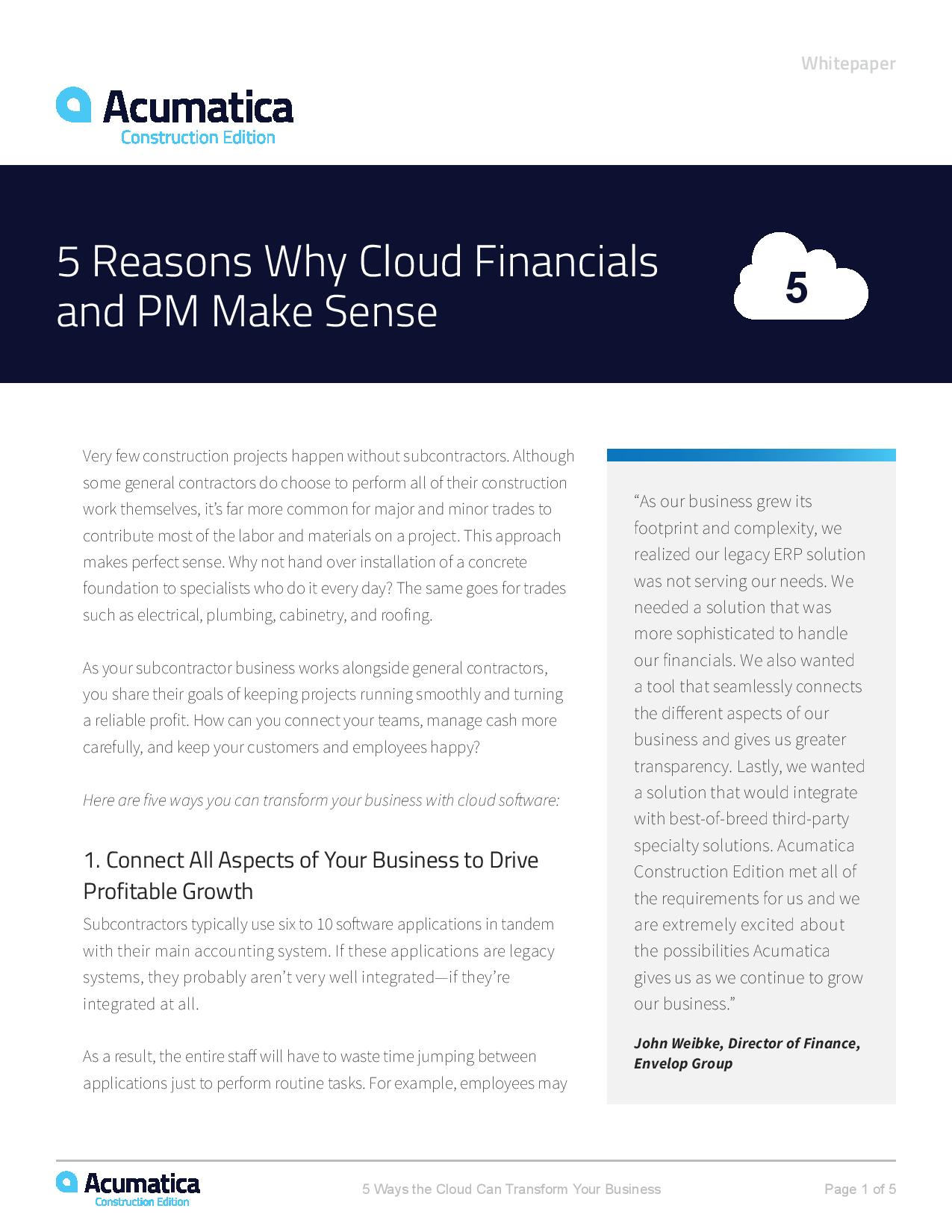 How Cloud Construction and Accounting Software Can Transform Your Business, page 0