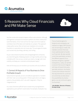 How Cloud Construction and Accounting Software Can Transform Your Business