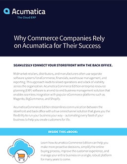 Why Commerce Companies Rely on Acumatica for Their Success