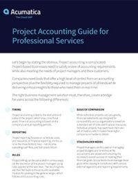 Project Accounting Guide for Professional Services