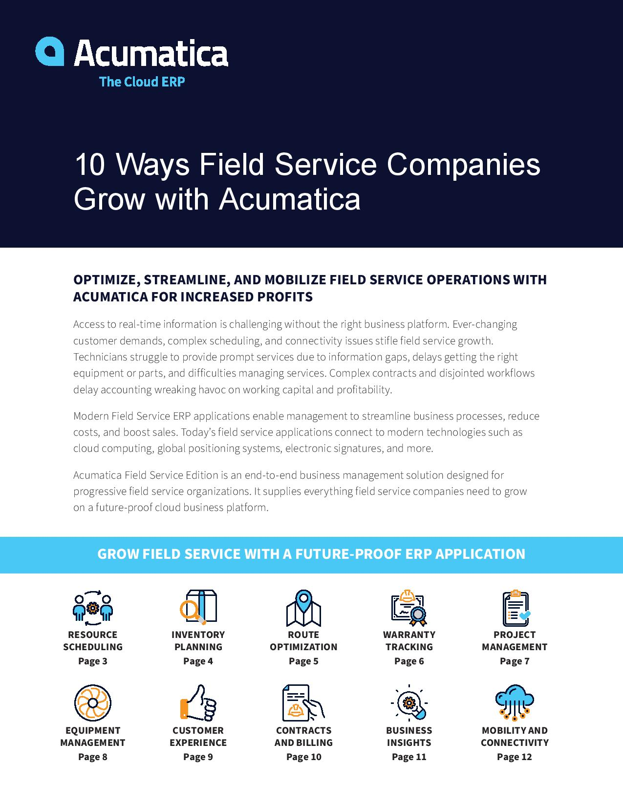 Optimize Field Service Operations—and Grow Your Business, page 0