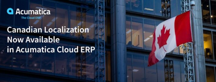 Canadian Localization Now Available in Acumatica Cloud ERP