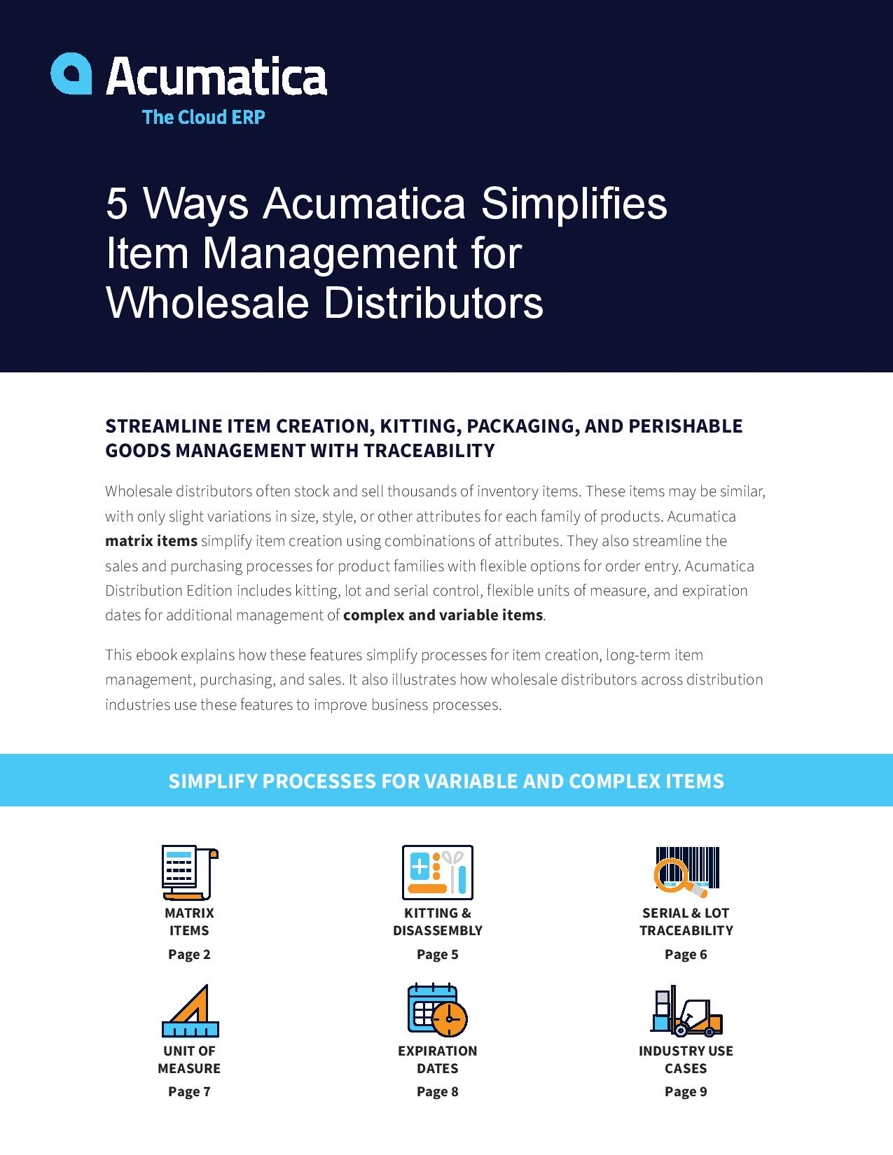 Faster, Easier Item Management for Distributors, page 0