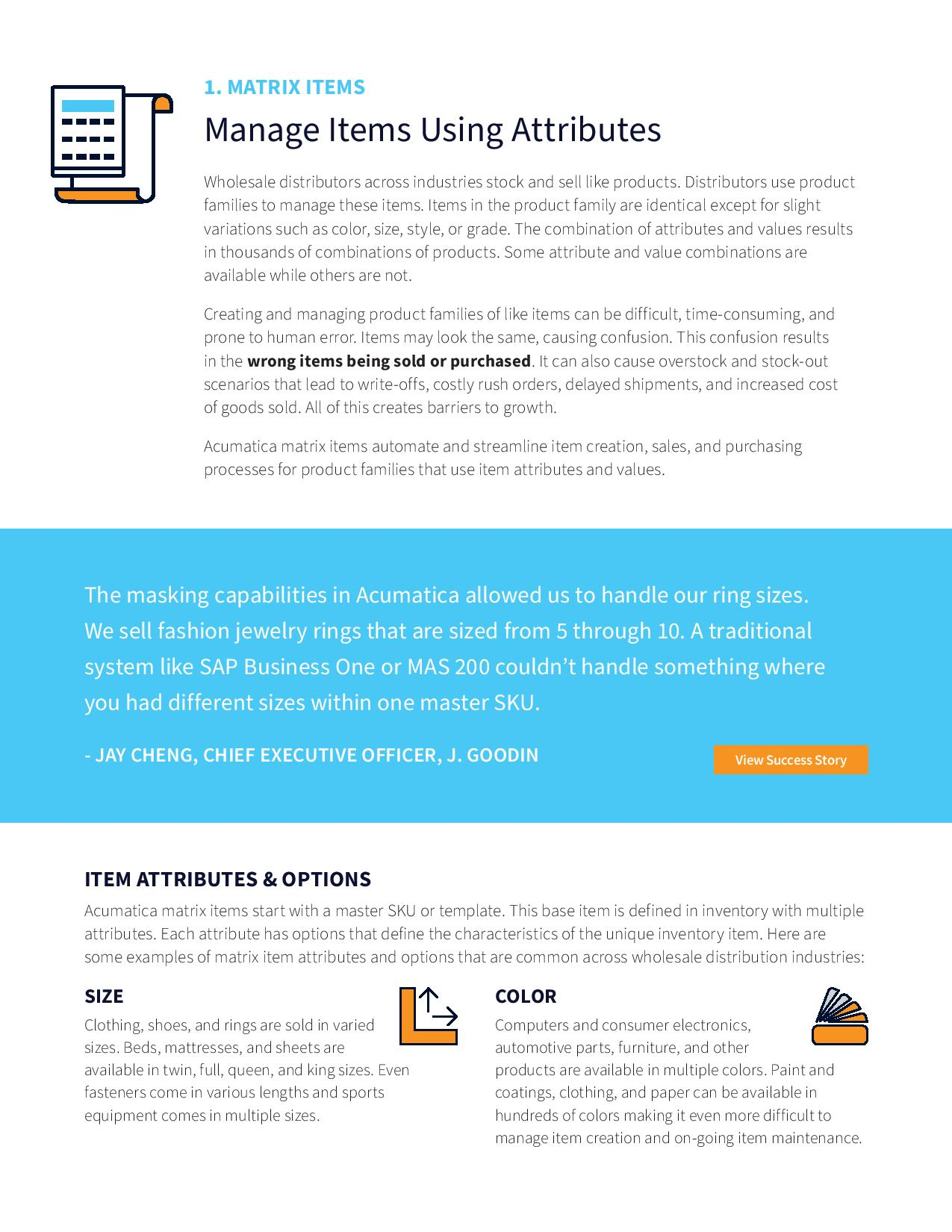 Faster, Easier Item Management for Distributors, page 1