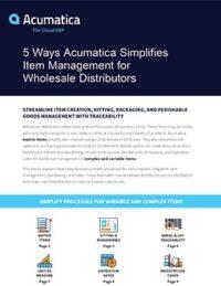 5 Ways Acumatica Simplifies Item Management for Wholesale Distributors