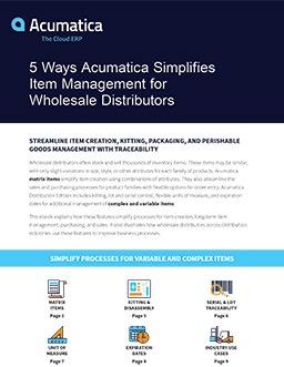 Faster, Easier Item Management for Distributors