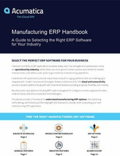 Manufacturing ERP Handbook