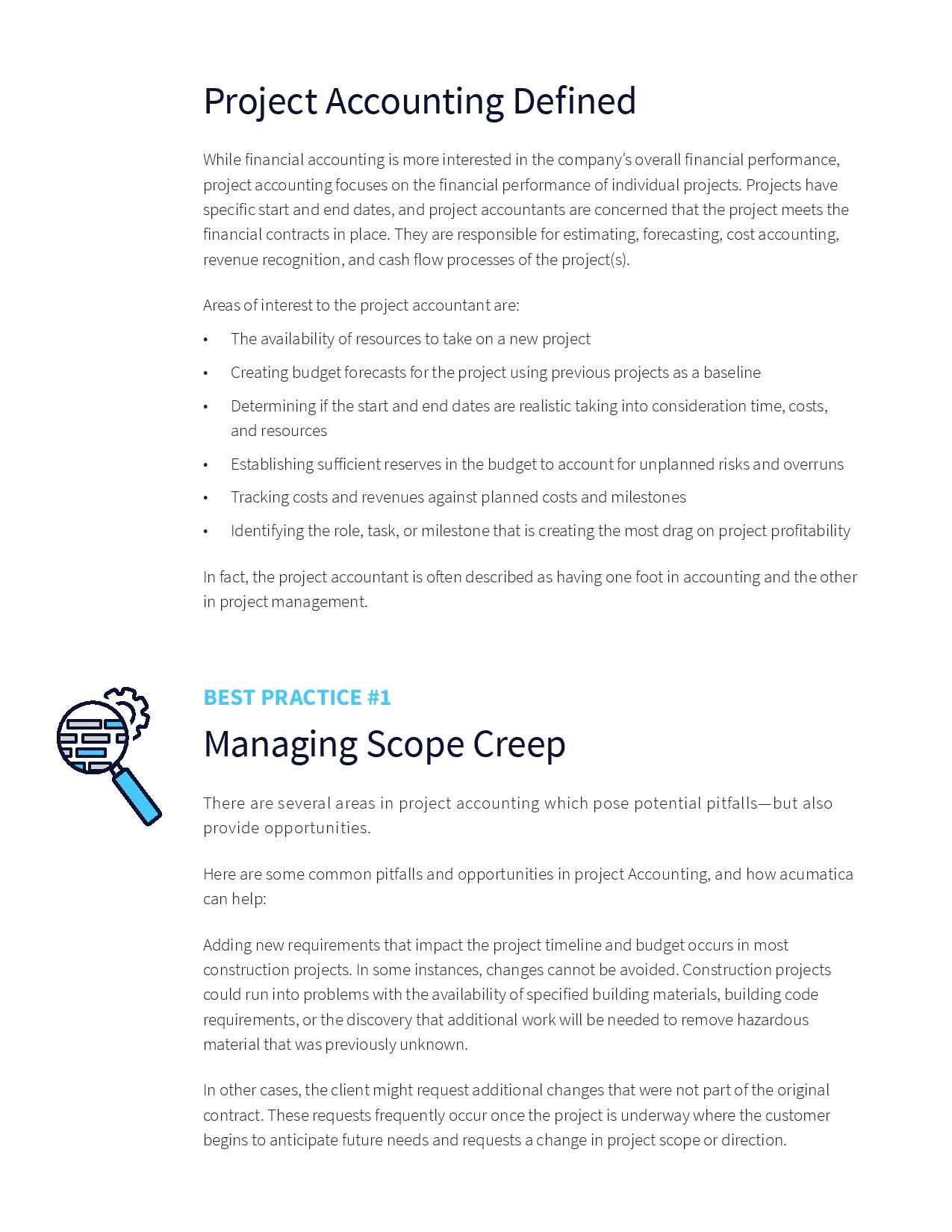 Project Accounting Best Practices Made Simple, page 1