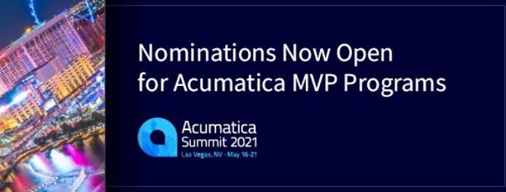 Nominations Now Open for Acumatica MVP Programs