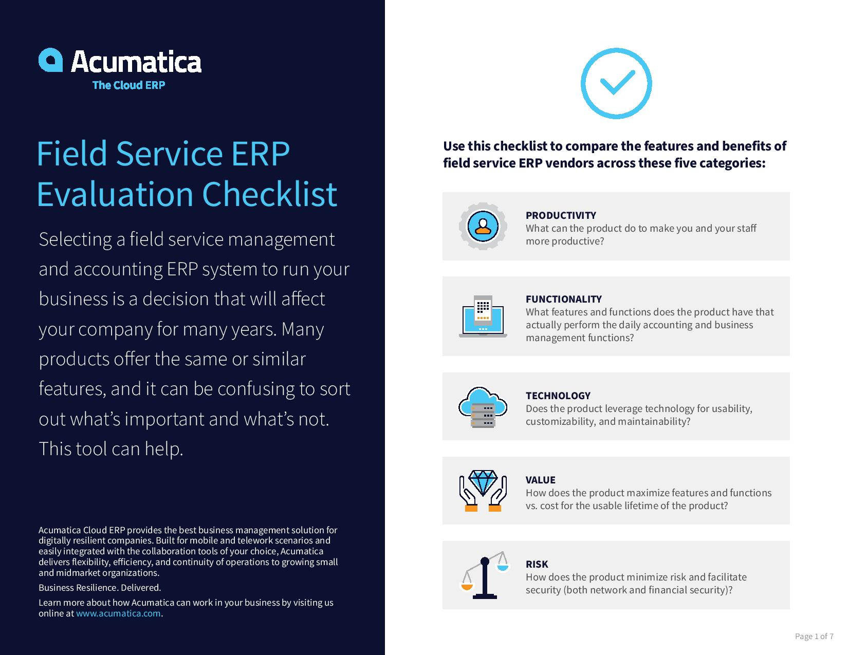 Field Service ERP: How Does Your Solution Stack Up?, page 0