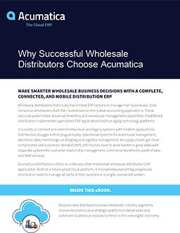 Best ERP for Distributors: Why Successful Companies Choose Acumatica